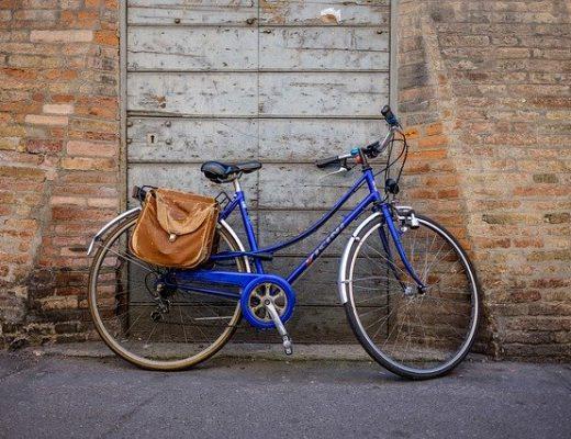 Klasszikus bőr biciklis táska